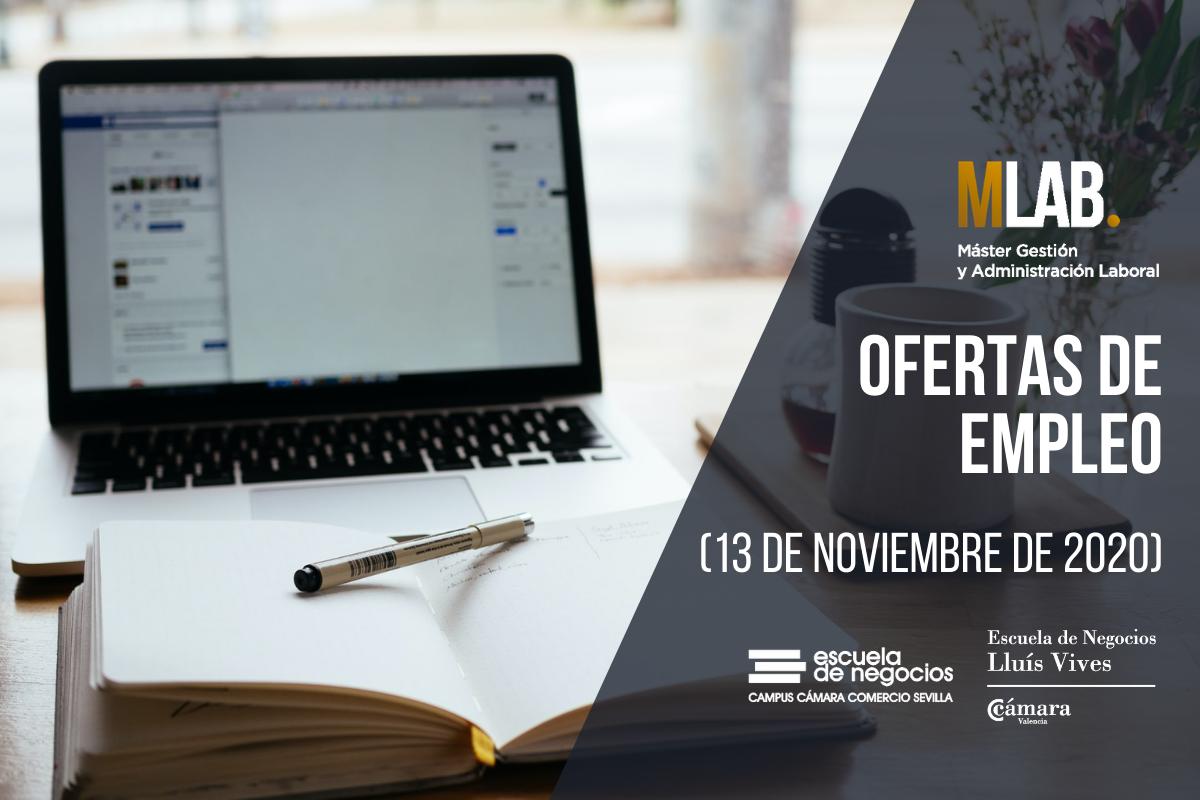 ofertas de empleo 13 de noviembre